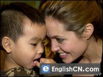 Angelina Jolie and her adopted son Maddox
